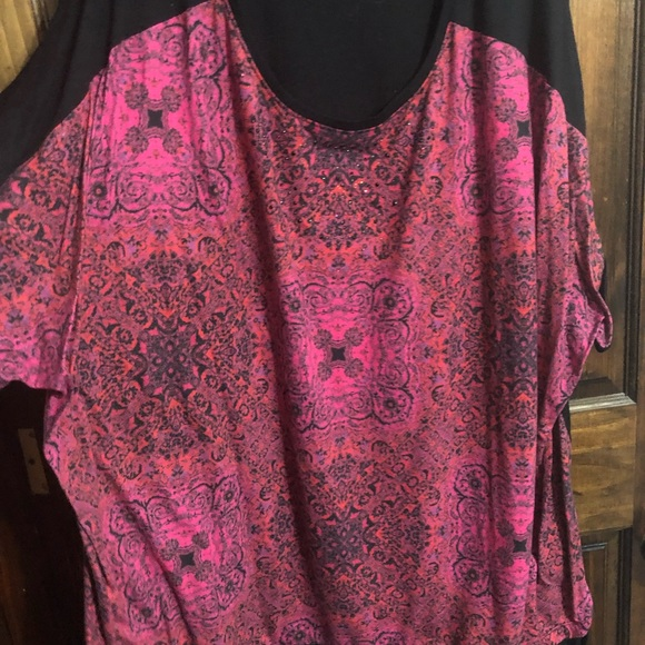 Catherines Tops - Catherine's Bling Print Top